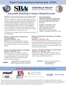 SBA – Export Assistance Training Program (ETAP)